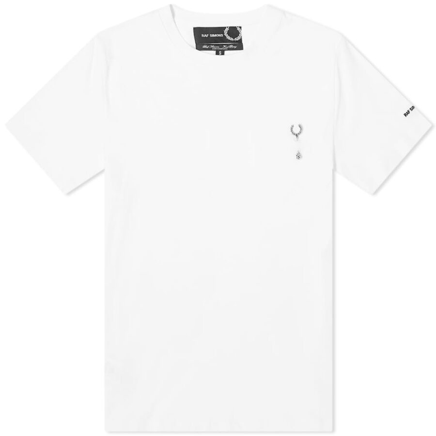Fred Perry x Raf Simons Pin Wreath T-Shirt 'White'