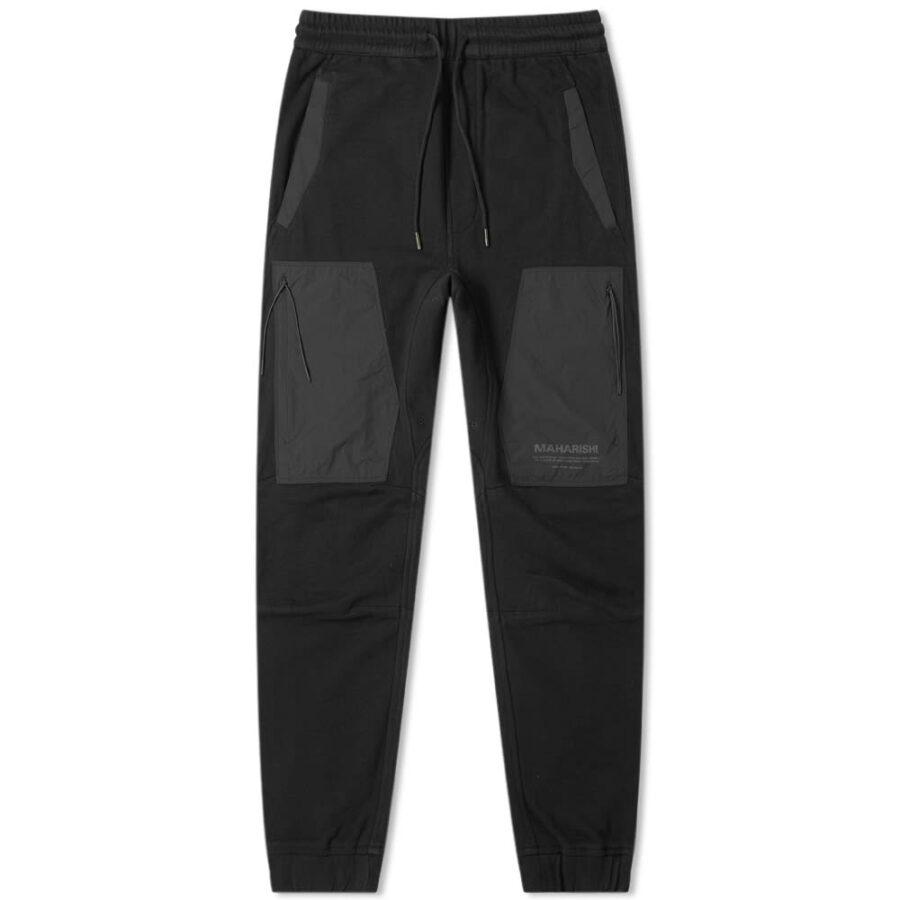 Maharishi Tech Cargo Sweatpants in Black