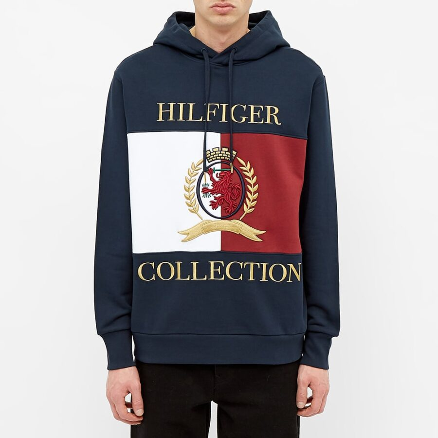 Hilfiger Collection Crest & Flag Hoody 'Navy'
