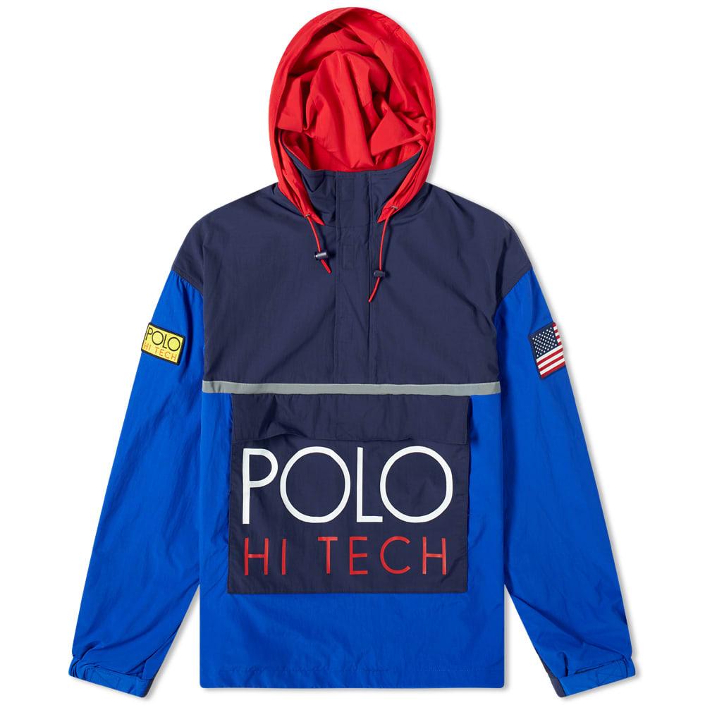 9b09a00150 Polo Ralph Lauren Hi-Tech Popover Hoody in Blue, Navy & Red