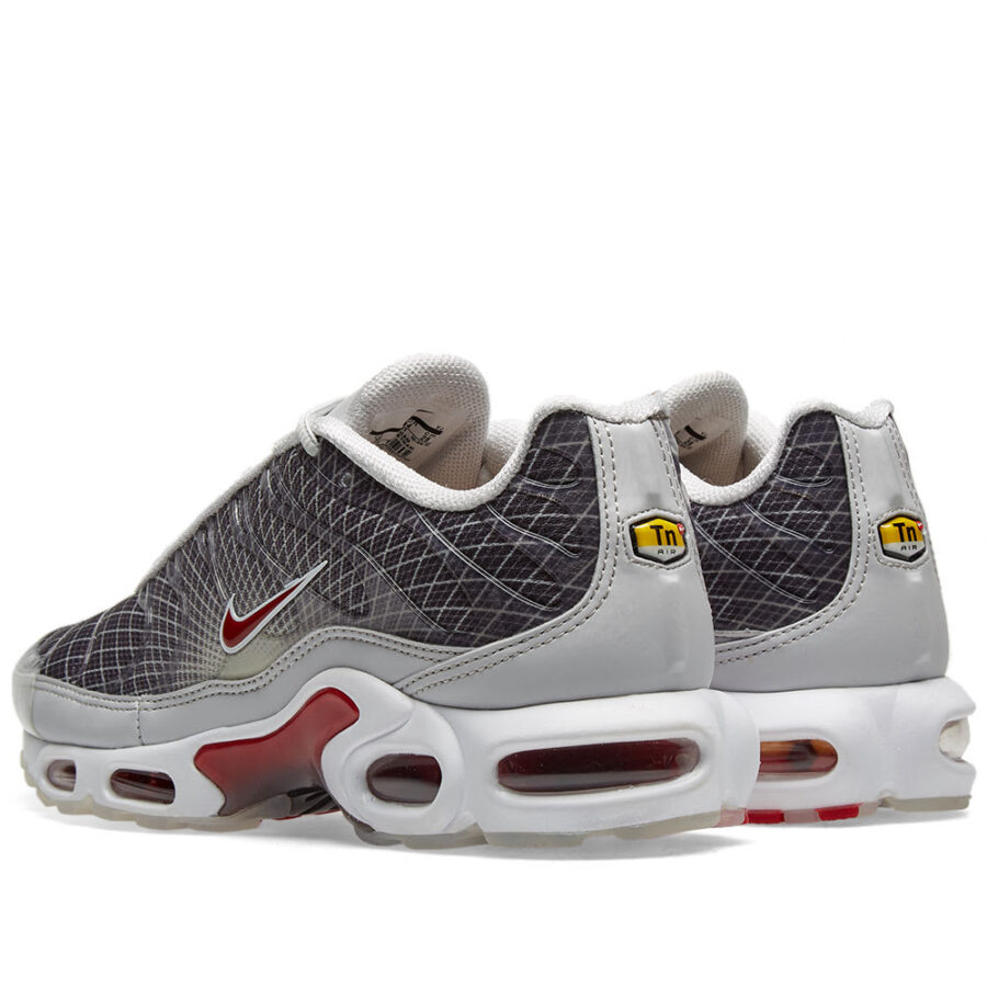 Nike Air Max Plus OG Neutral Grey, Red and White Sneakers