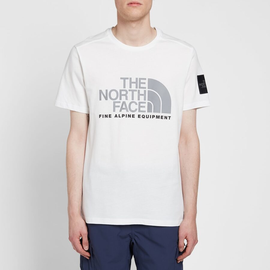 The North Face FAE Black and White Reflective T-Shirt