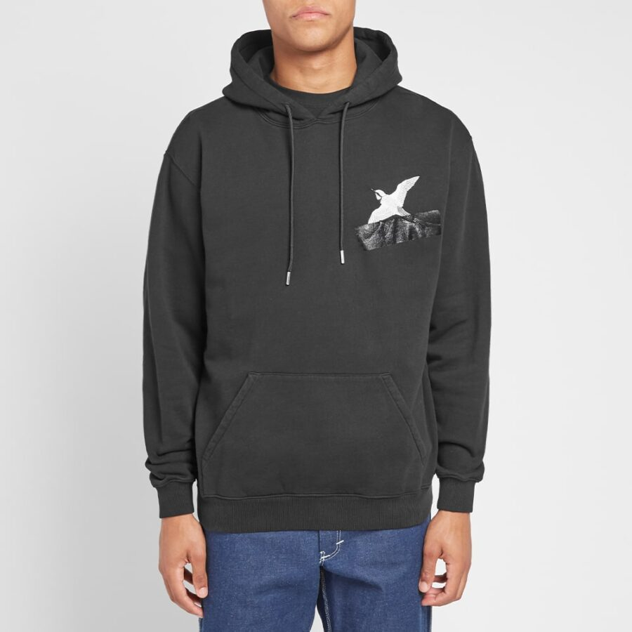 Axel Arigato Taped Bird Hoodie in Black