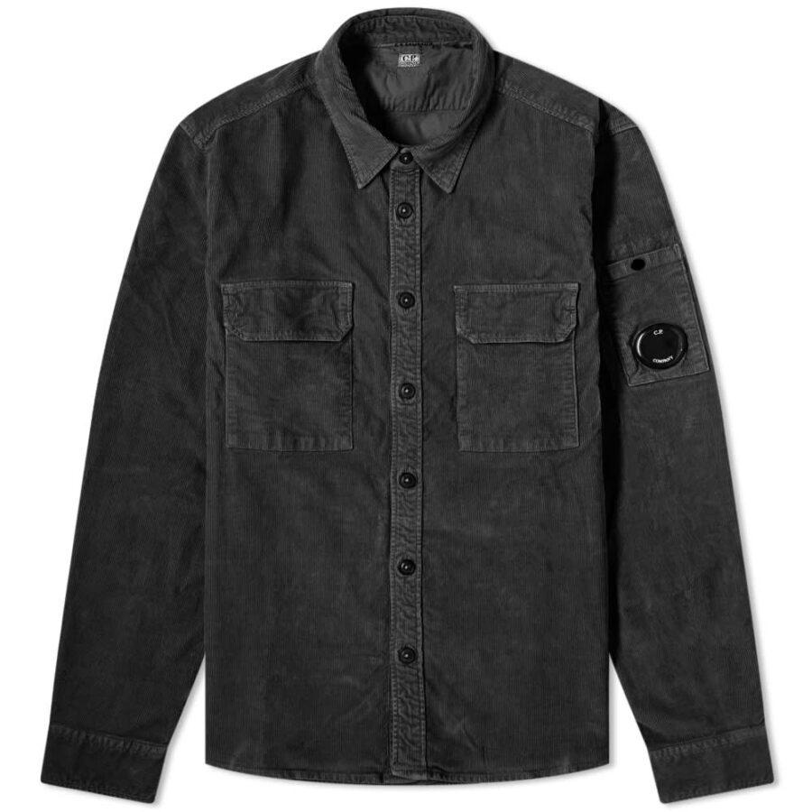C.P. Company Cord Pocket Overshirt 'Black'