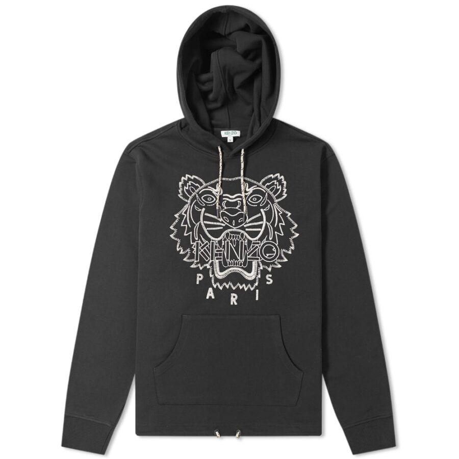 Kenzo Stitched Tiger Hoody 'Black'