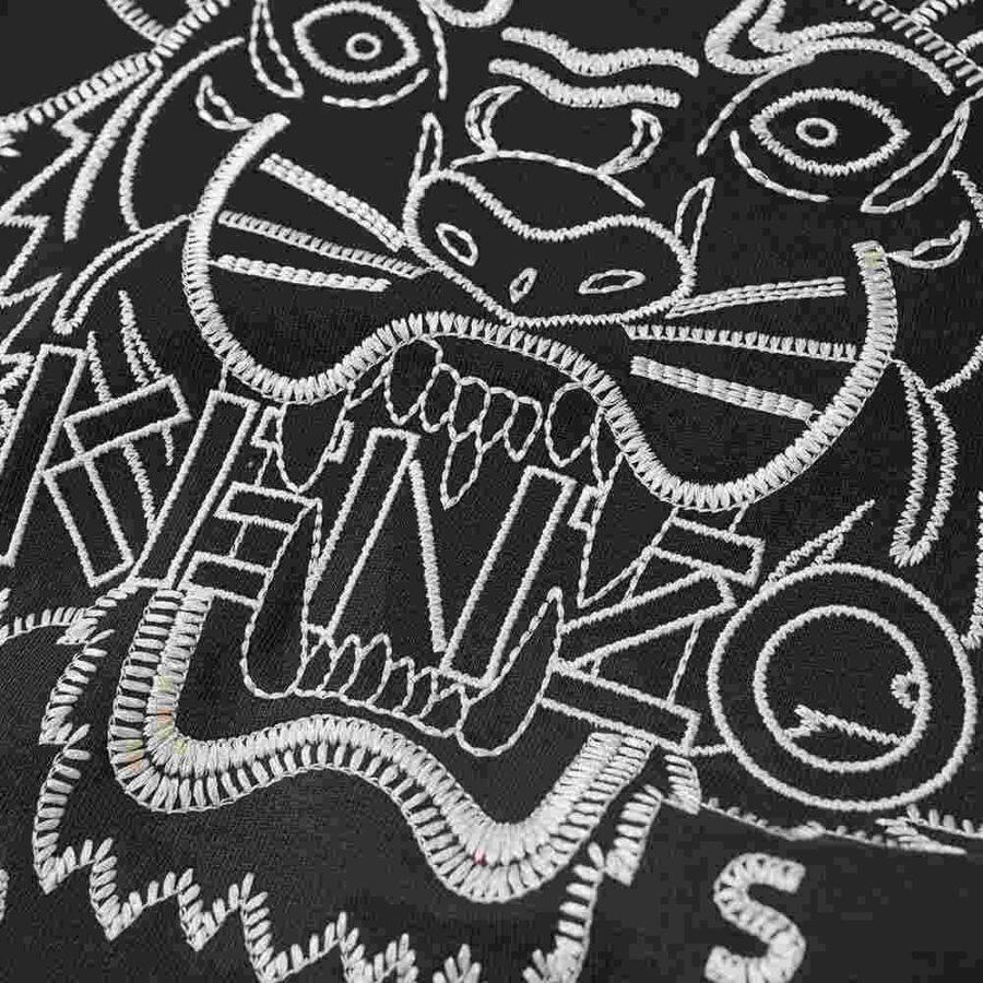 Kenzo Stitched Tiger Hoody 'Black' 1