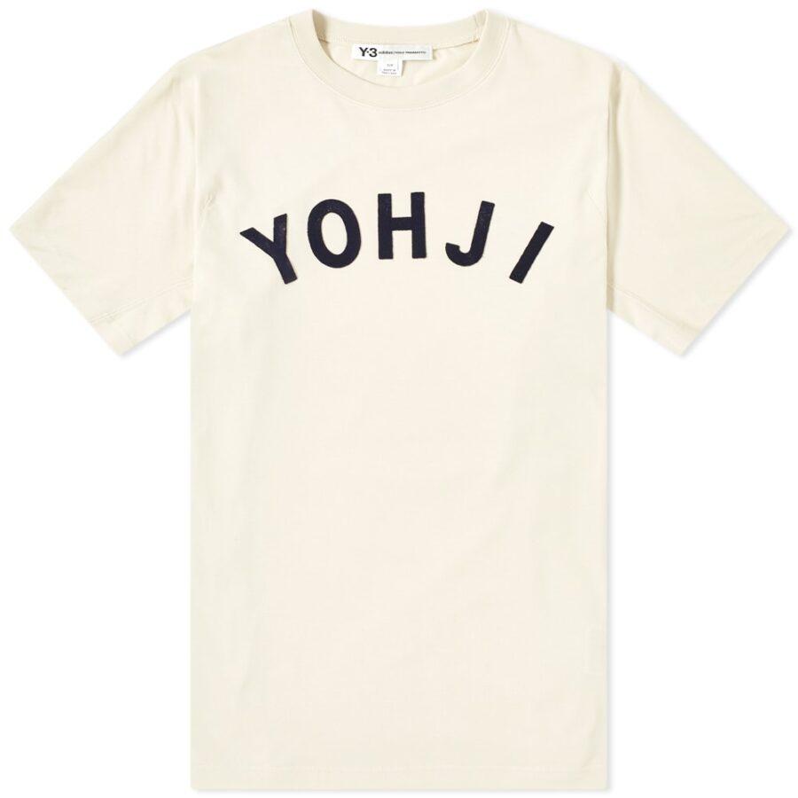 Y-3 Yohji Letters T-Shirt 'Ecru'