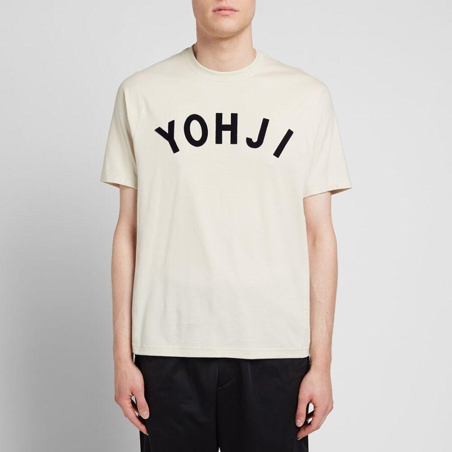 Y-3 Letters Applique Cotton T-Shirt 'Cream'