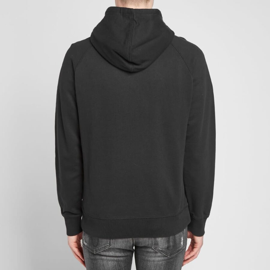 Calvin Klein Washed Regular Monogram Hoodie in Black, White and Red