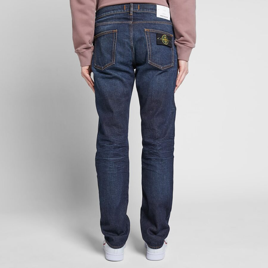 Stone Island Dark Blue Denim Slim Fit Jeans