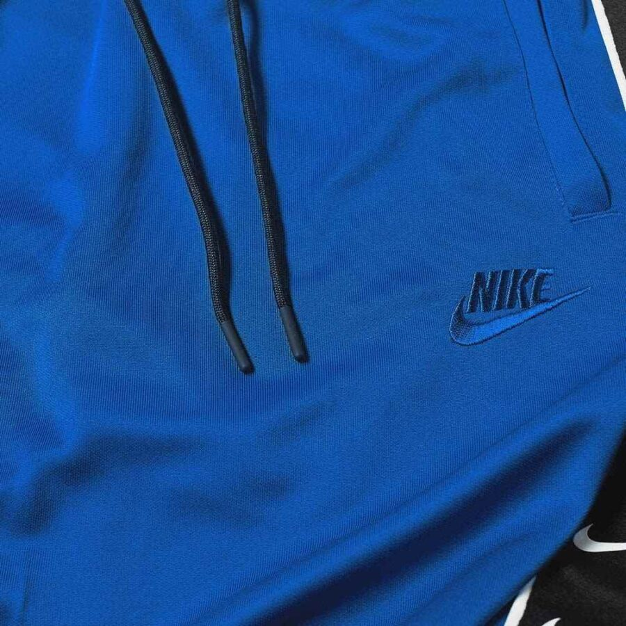 Nike Poly Trackpants in Indigo Force Blue, Black and White