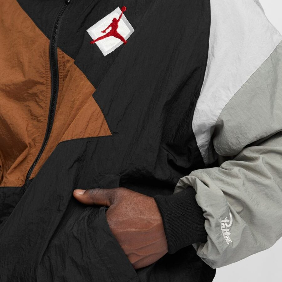 Air Jordan x Patta Jumpman Track Jacket AJ07 in Black and Tan