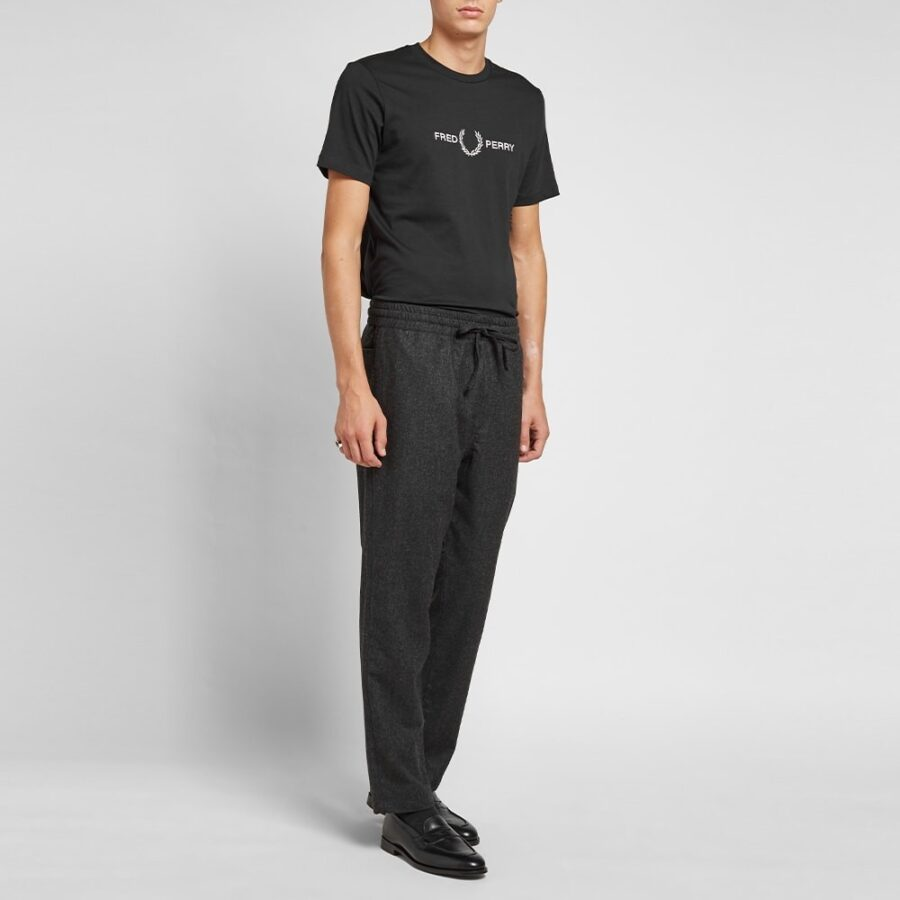 Fred Perry Embroidered Logo T-Shirt in Black