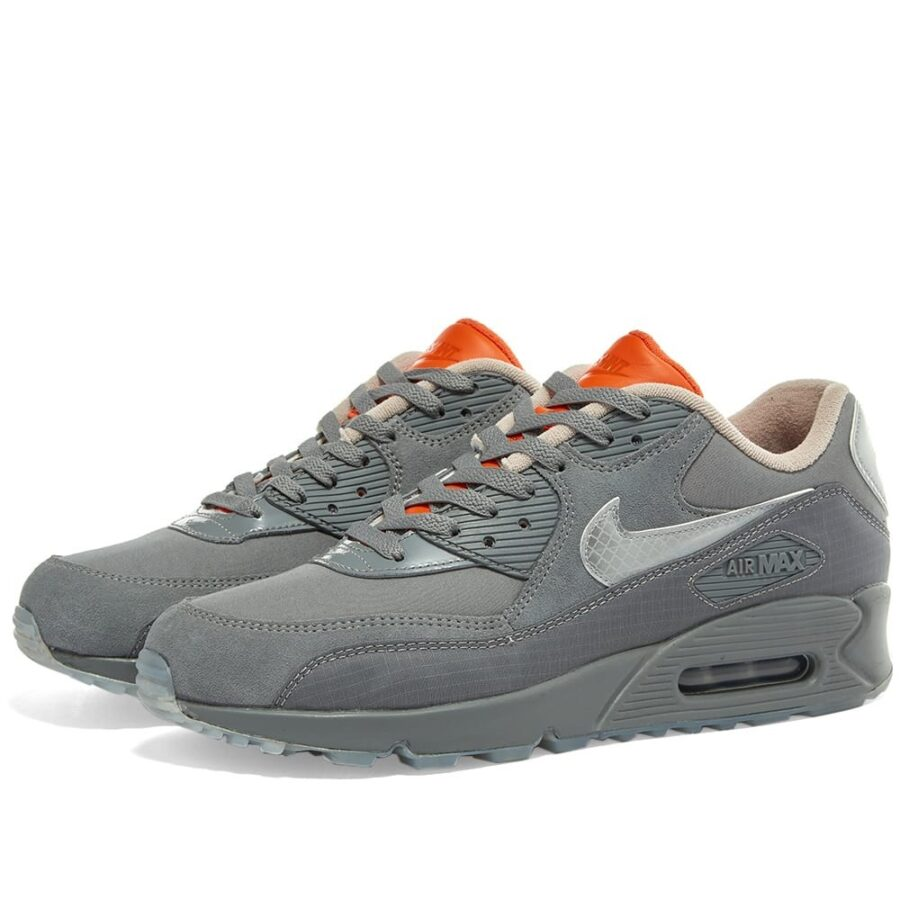Nike Air Max 90 Basement Glasgow in Smoke Grey and Reflective Silver