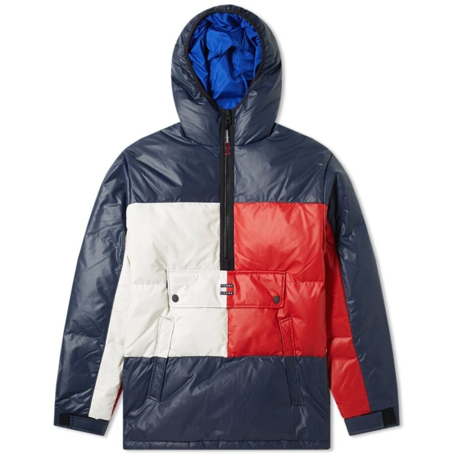 Tommy Jeans Flag Puffer Jacket 'Navy'