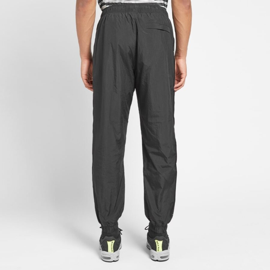 Nike Taped Swoosh Woven Trackpants in Black and White