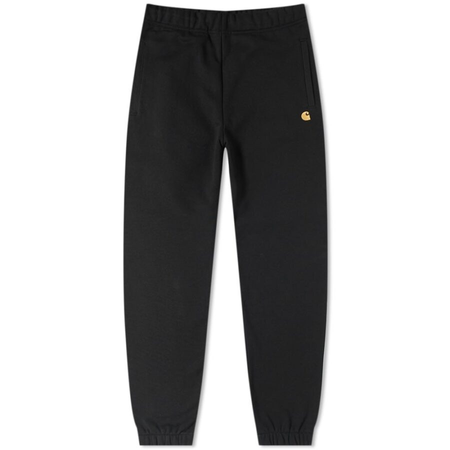 Carhartt Chase Sweatpants in Black and Gold