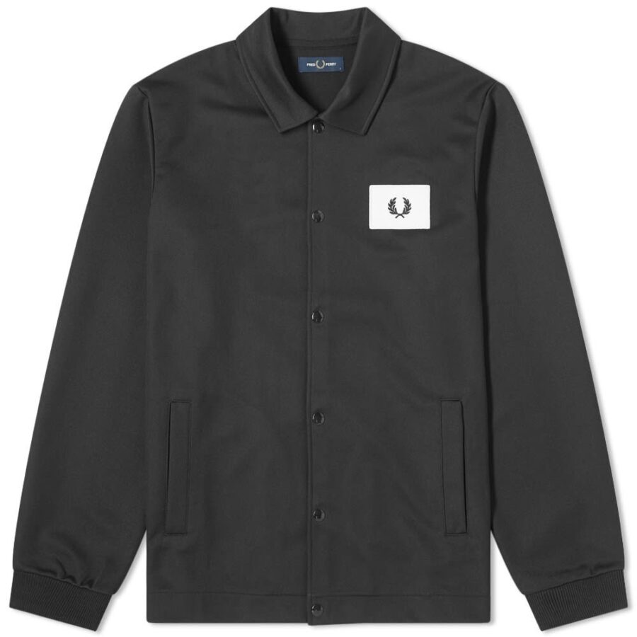 Fred Perry Acid Bright Coach Jacket in Black