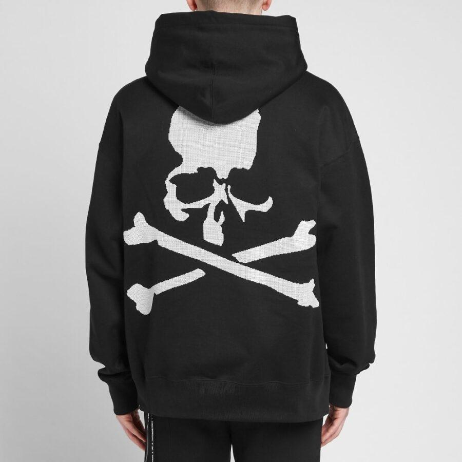 Mastermind Sequin Embellished Logo Hoodie in Black