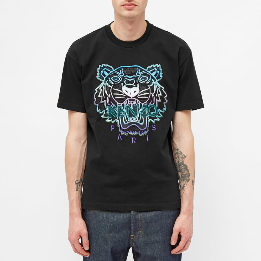 Kenzo Embroidered Tiger T-Shirt 'Black'