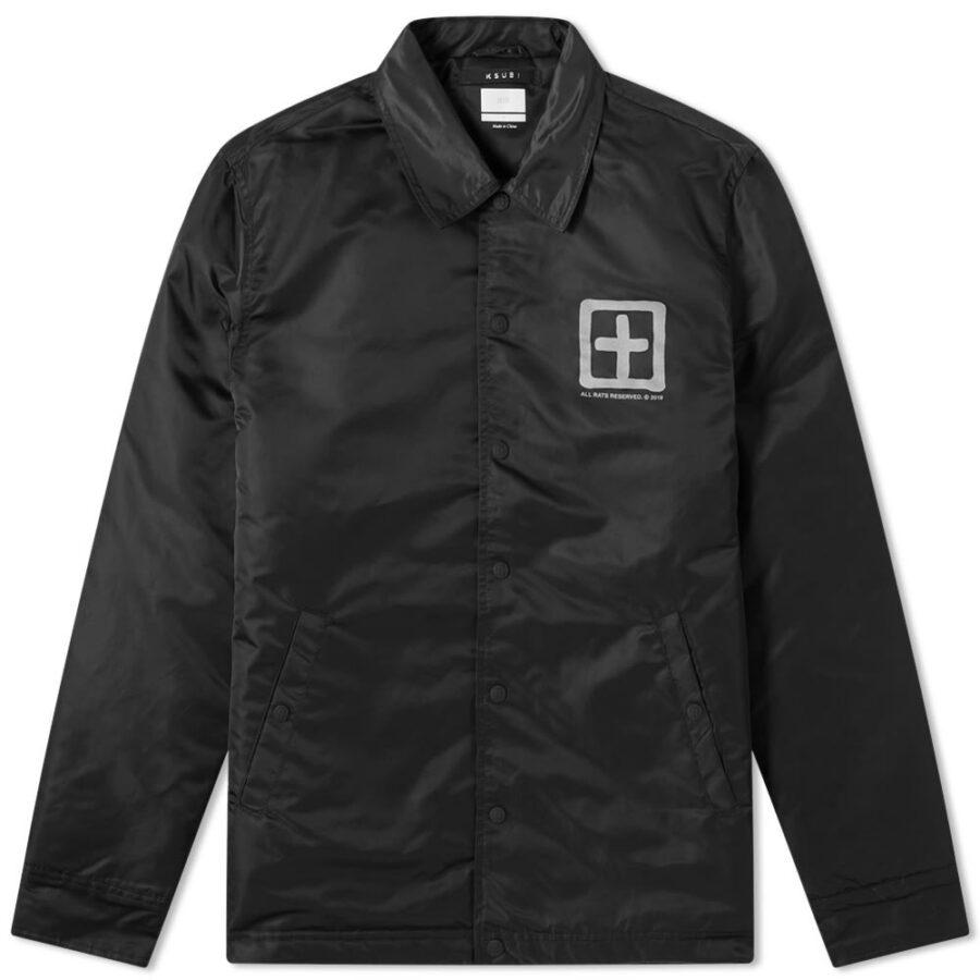 Ksubi Sign of the Times Coach Jacket in Black