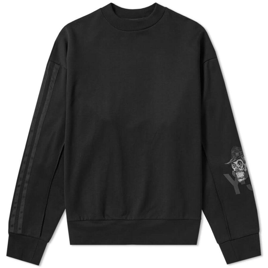 Y-3 Yohji Skull Crewneck Sweatshirt 'Black'