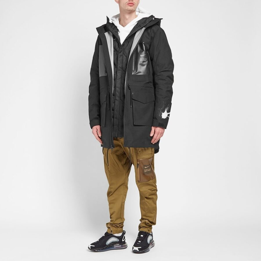 Nike x Undercover Fishtail Parka in Black