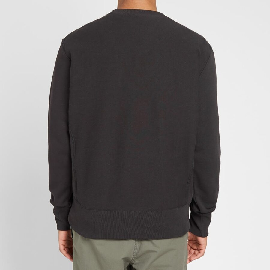 Champion Reverse Weave Small Script Crewneck Sweatshirt 'Black'