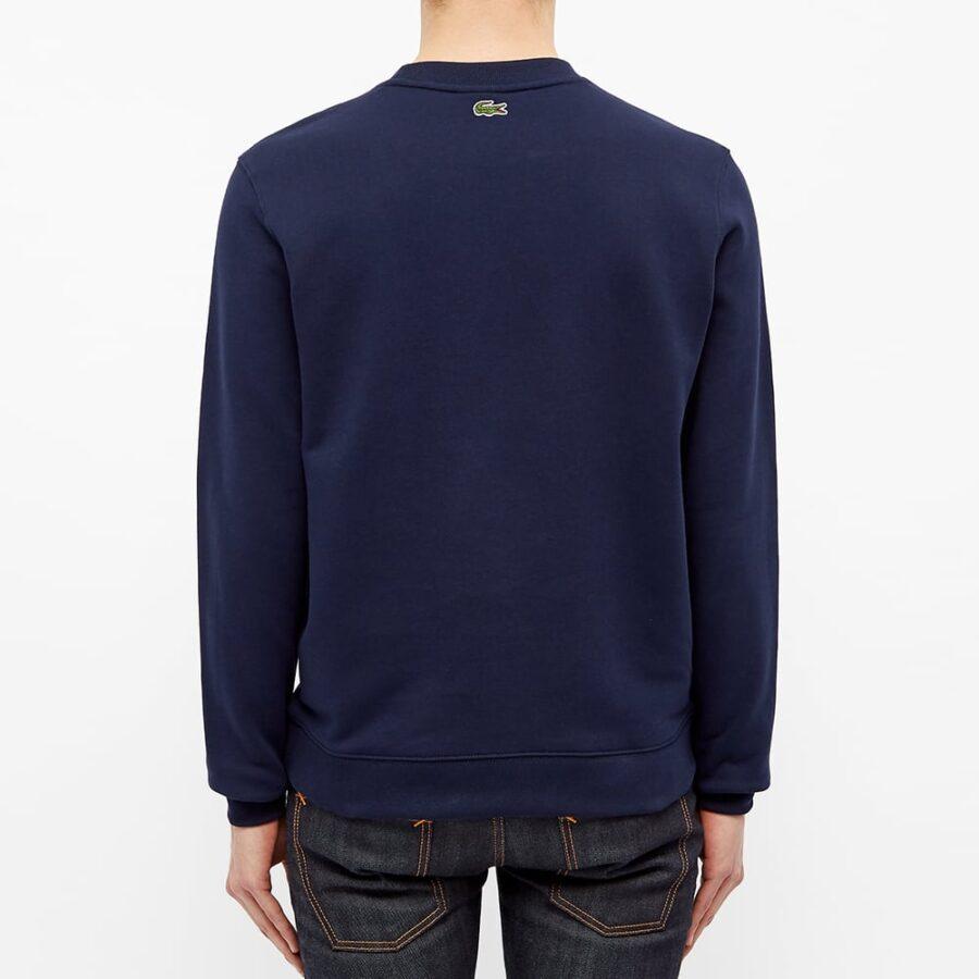 Lacoste Vintage Crewneck Sweatshirt 'Navy Blue'