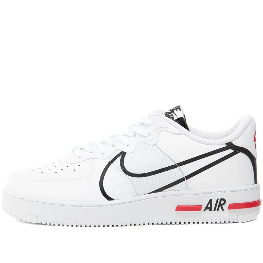 Nike Air Force 1 React 'White, Black & Red'