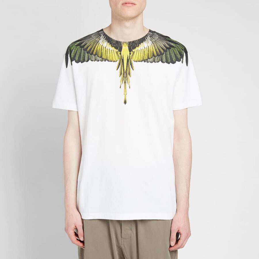 Marcelo Burlon Yellow Wings T-Shirt 'White'