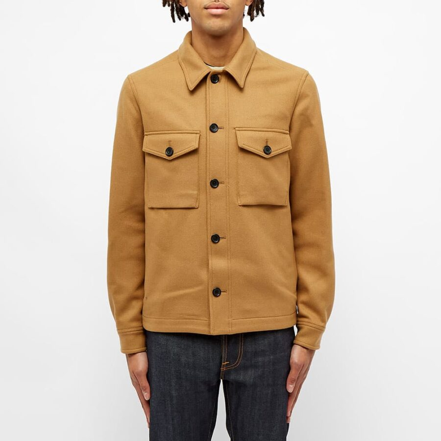 Paul Smith Wool Button Jacket 'Camel'