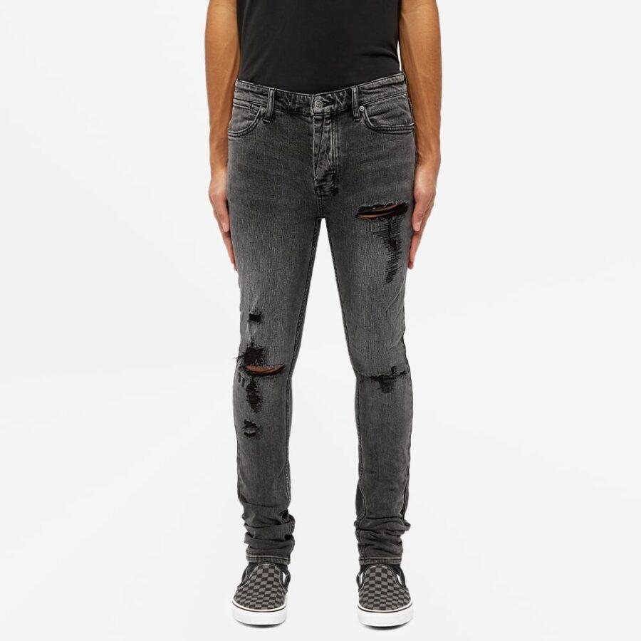 Ksubi Van Winkle Angst Dymo Trashed Skinny Jeans 'Black'