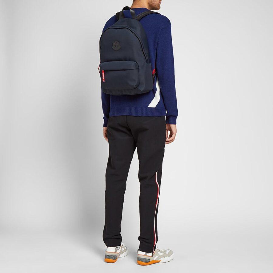 Moncler Pierrick Logo Backpack 'Navy'