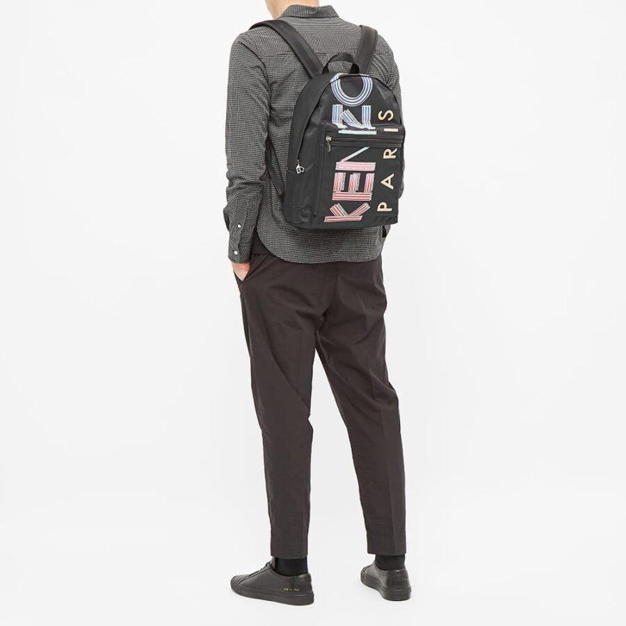 Kenzo Paris Logo Backpack 'Black'