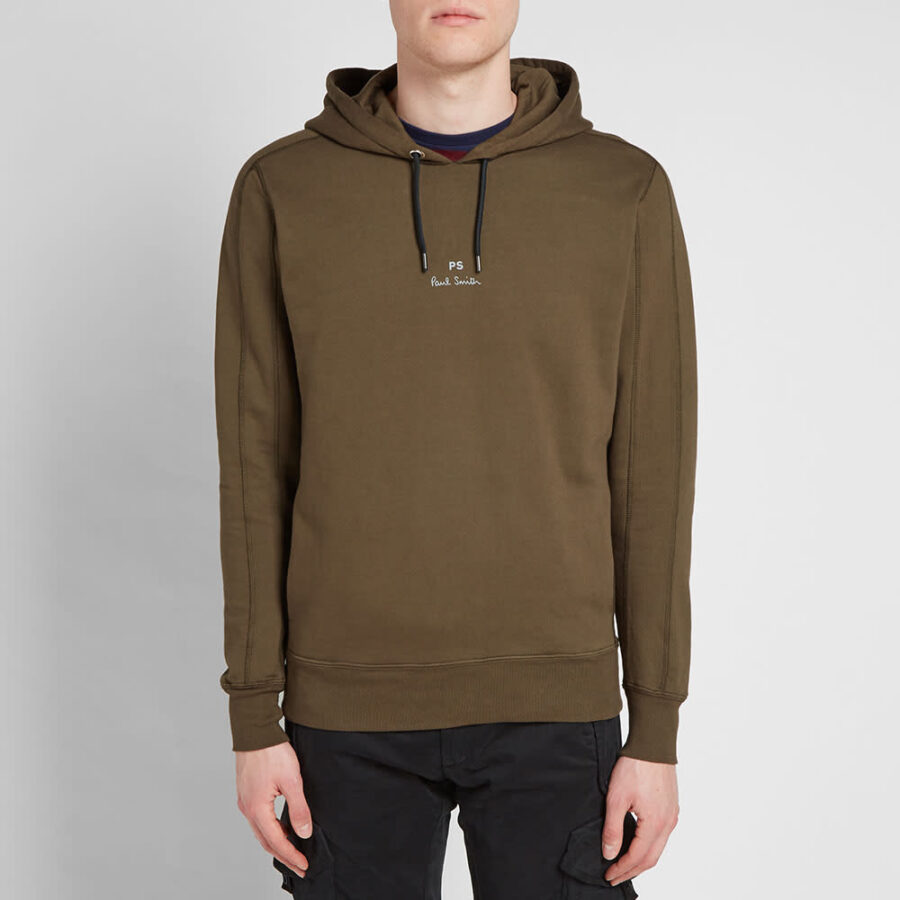 Paul Smith Damson Garment Dyed Hoodie 'Khaki'