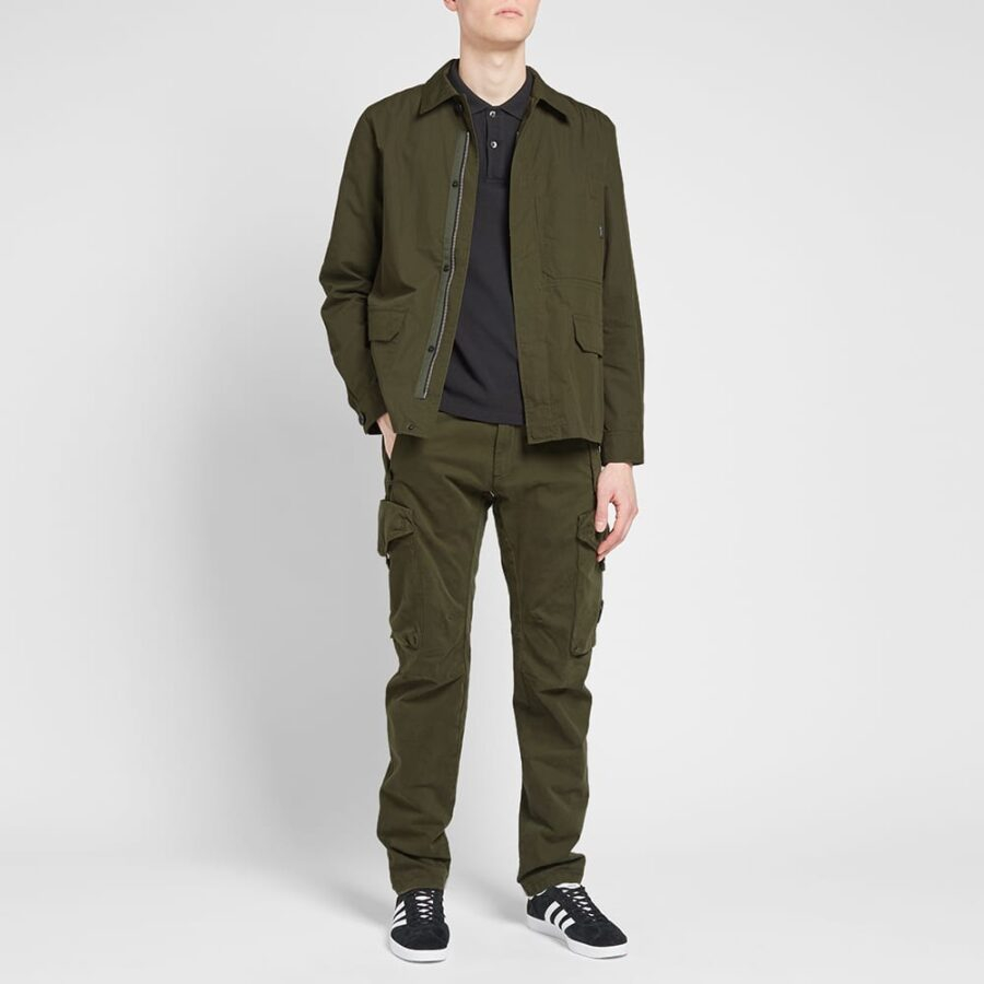 Paul Smith Ripstop Zip Chore Overshirt Jacket 'Khaki'