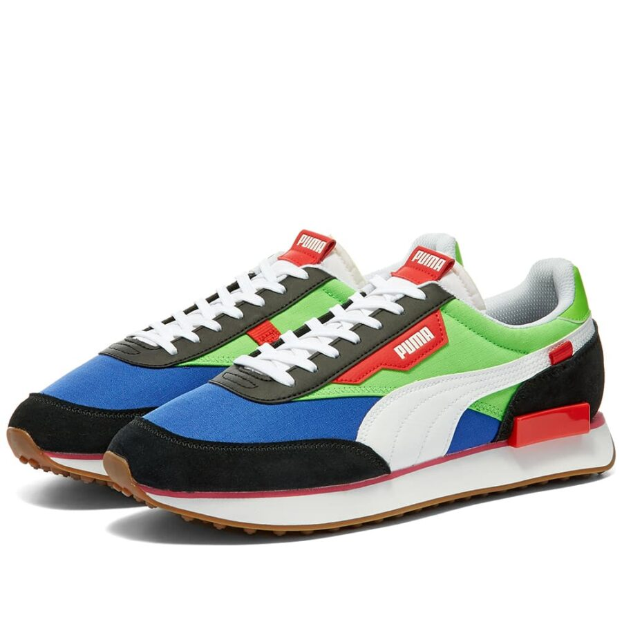 Puma Rider Play On Trainers 'Black & Fluo Green'