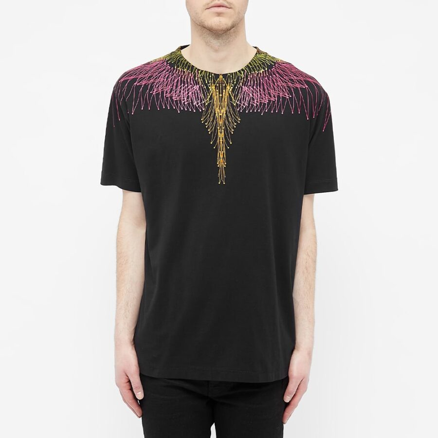 Marcelo Burlon Bezier Wings T-Shirt 'Black'