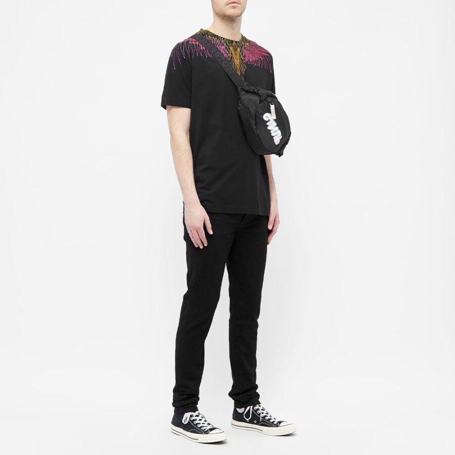 Marcelo Burlon Bezier Wings T-Shirt 'Black' 1