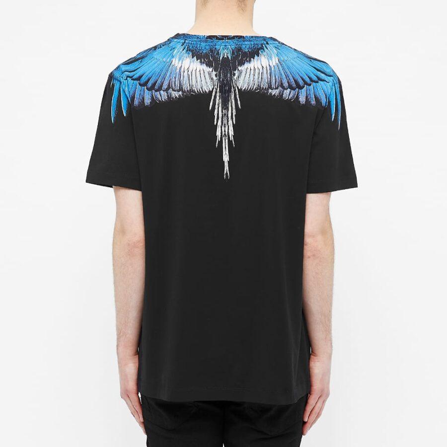 Marcelo Burlon Wings Shoulder T-Shirt 'Black & Blue'