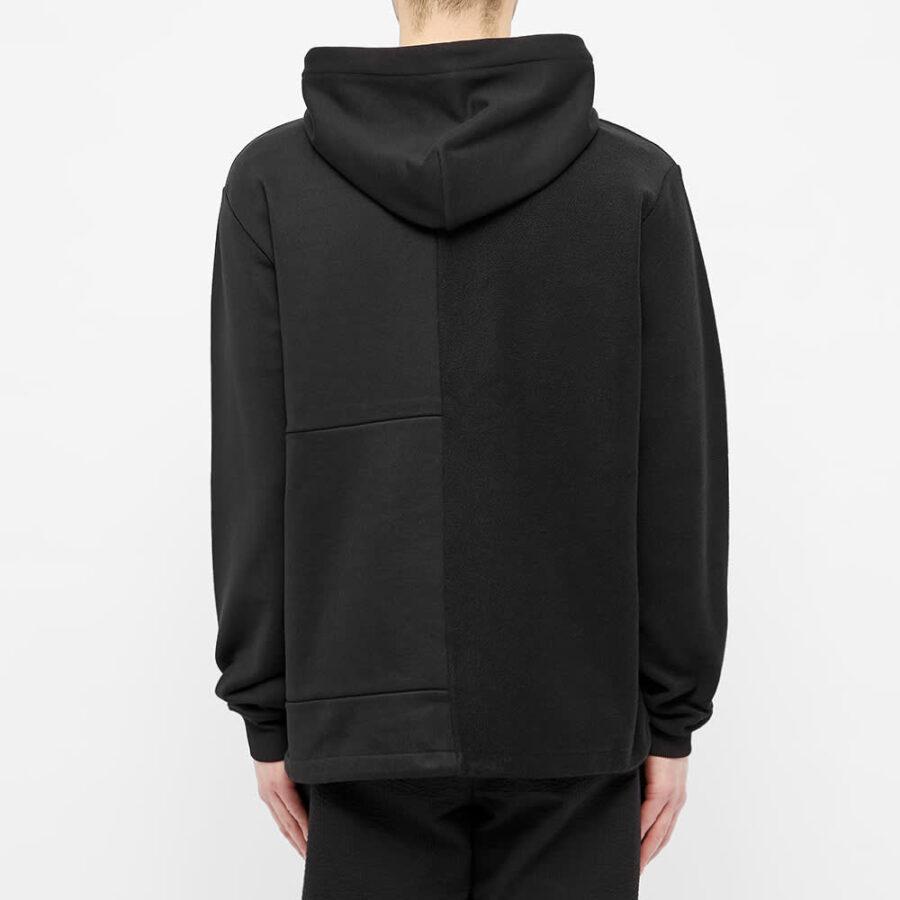 MCQ Alexander McQueen Panelled Drawstring Hoodie 'Black'