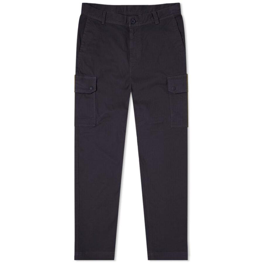 Paul Smith Herringbone Cargo Pants 'Navy'