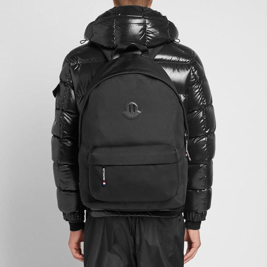Moncler Pierrick Oversized Logo Backpack 'Black'