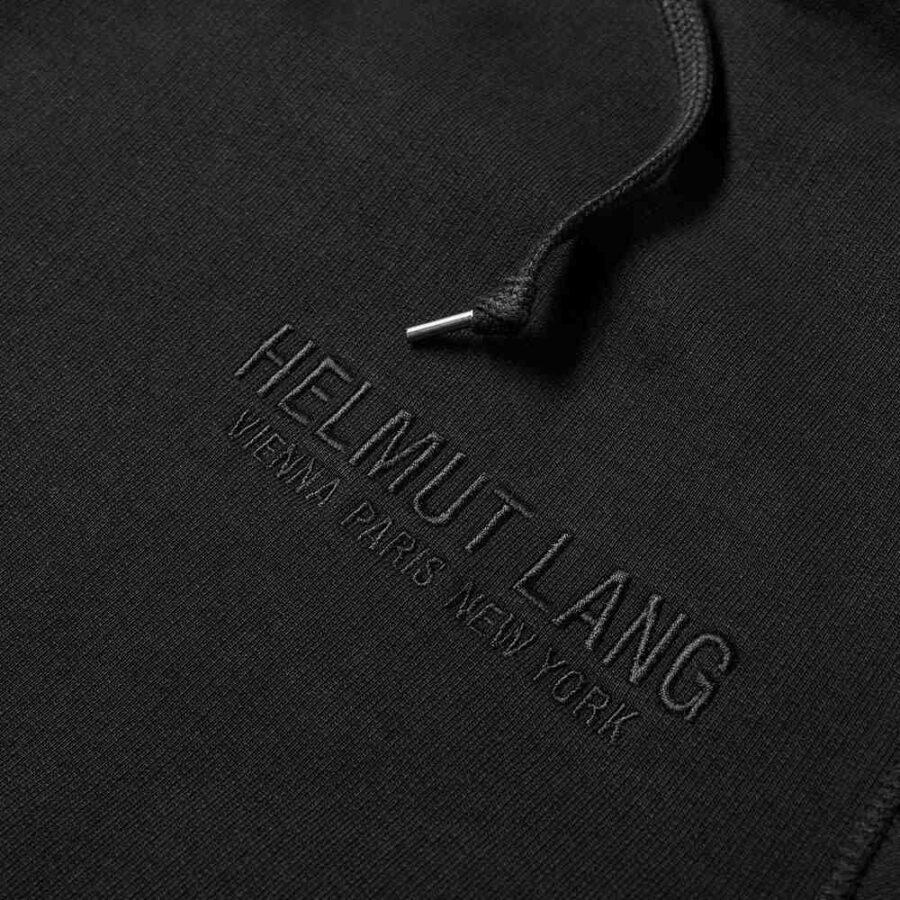 Helmut Lang Three Eagles Print Hoodie 'Black'