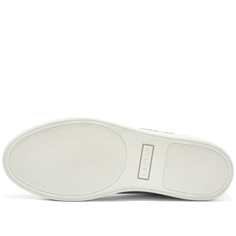 Lanvin Printed Logo Low Top Sneakers 'Metallic Grey'