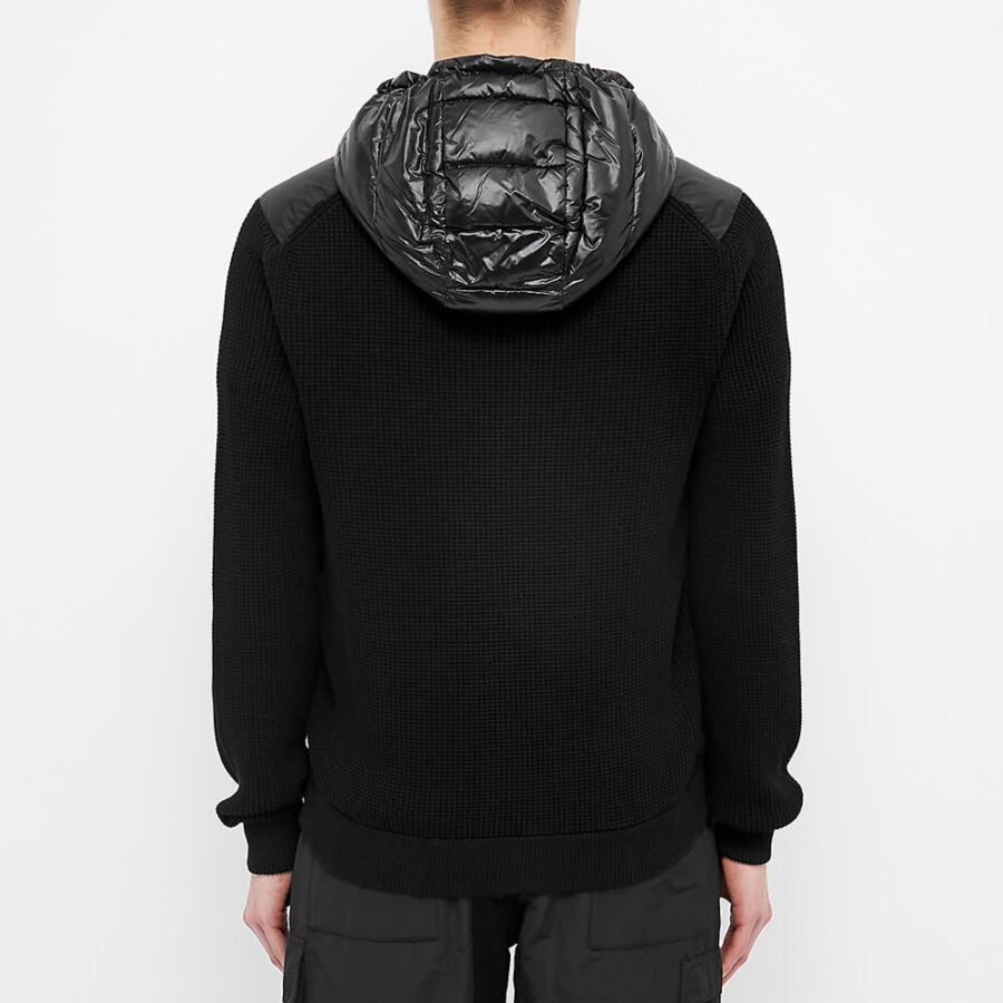 Moncler Knitted Panel Down Filled Shell Jacket 'Black'