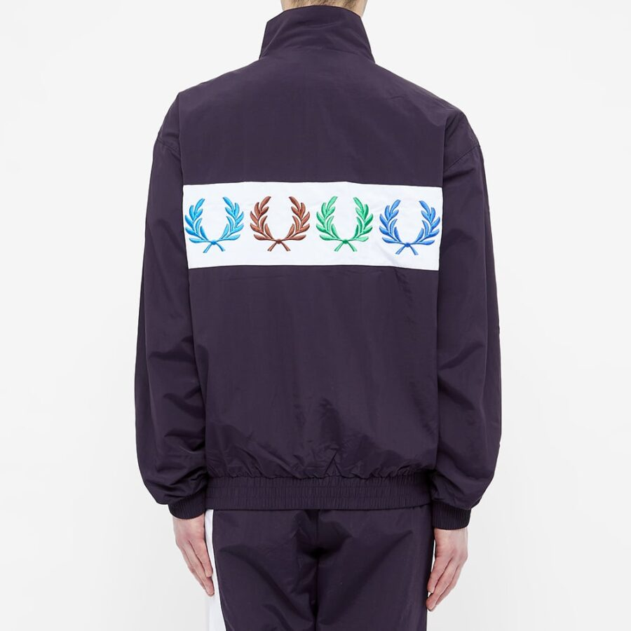 Fred Perry x Beams Shell Track Jacket 'Indigo Night'