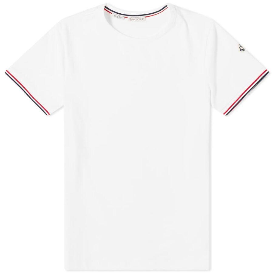 Moncler Striped Sleeves Logo T-Shirt 'White'