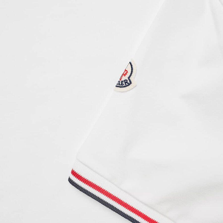 Moncler Logo Striped Sleeves T-Shirt 'White'